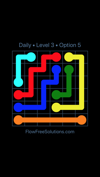Solution and Answer to the Puzzle for Flow Date Monday, August 6, 2018 Level 3