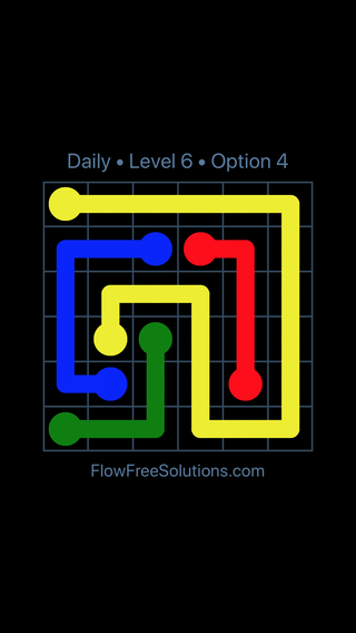 Solution and Answer to the Puzzle for Flow Date Monday, May 14, 2018 Level 6
