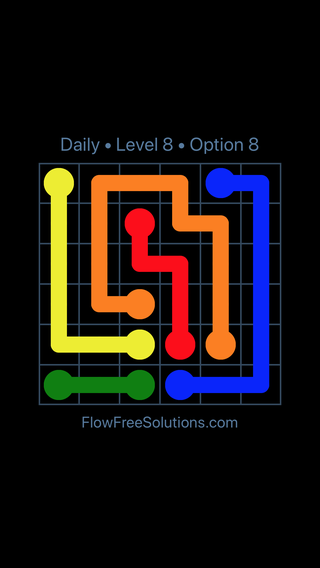 Solution and Answer to the Puzzle for Flow Date Monday, May 14, 2018 Level 8
