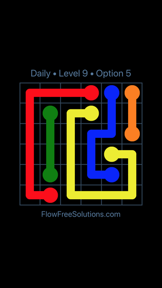 Solution and Answer to the Puzzle for Flow Date Monday, May 14, 2018 Level 9