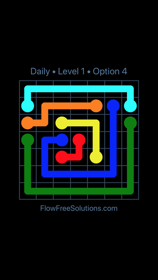 Solution and Answer to the Puzzle for Flow Date Tuesday, May 15, 2018 Level 1