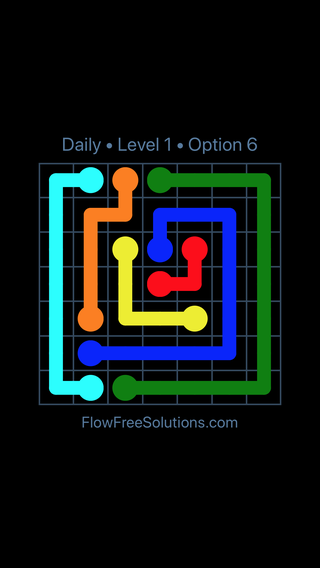 Solution and Answer to the Puzzle for Flow Date Tuesday, August 7, 2018 Level 1
