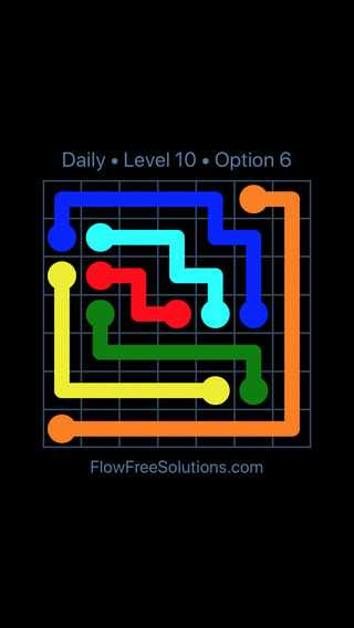 Solution and Answer to the Puzzle for Flow Date Tuesday, May 15, 2018 Level 10
