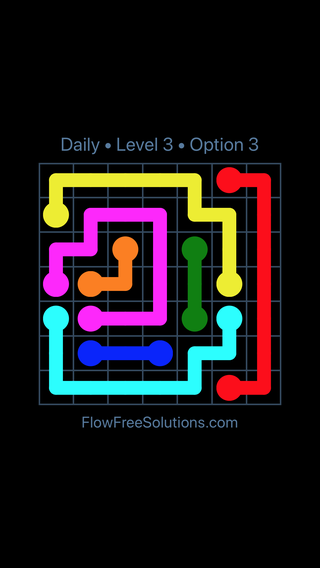 Solution and Answer to the Puzzle for Flow Date Tuesday, May 15, 2018 Level 3
