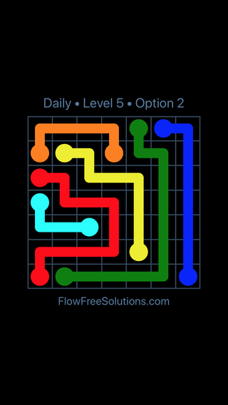 Solution and Answer to the Puzzle for Flow Date Tuesday, August 7, 2018 Level 5