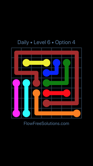 Solution and Answer to the Puzzle for Flow Date Tuesday, August 7, 2018 Level 6