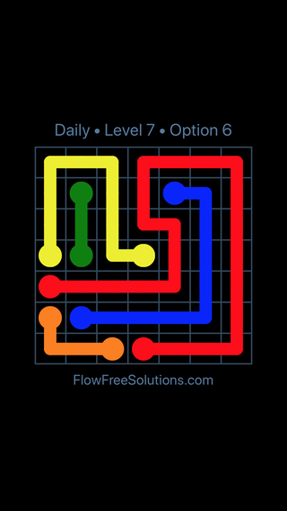 Solution and Answer to the Puzzle for Flow Date Tuesday, August 7, 2018 Level 7