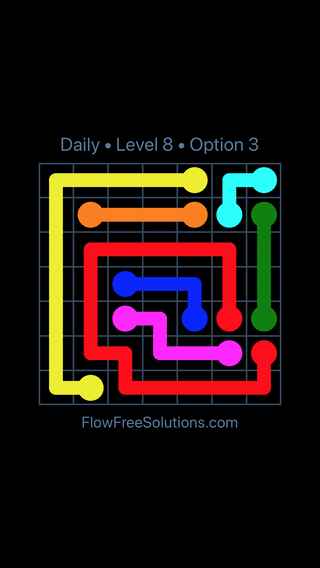Solution and Answer to the Puzzle for Flow Date Tuesday, May 15, 2018 Level 8
