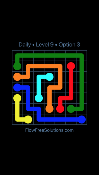 Solution and Answer to the Puzzle for Flow Date Tuesday, May 15, 2018 Level 9