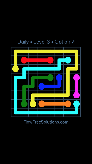 Solution and Answer to the Puzzle for Flow Date Wednesday, May 16, 2018 Level 3