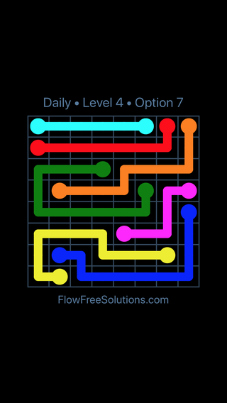 Solution and Answer to the Puzzle for Flow Date Wednesday, May 16, 2018 Level 4