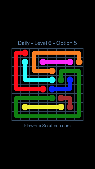 Solution and Answer to the Puzzle for Flow Date Wednesday, August 8, 2018 Level 6