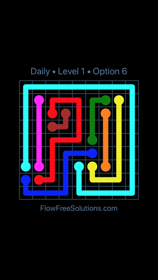 Solution and Answer to the Puzzle for Flow Date Thursday, August 9, 2018 Level 1