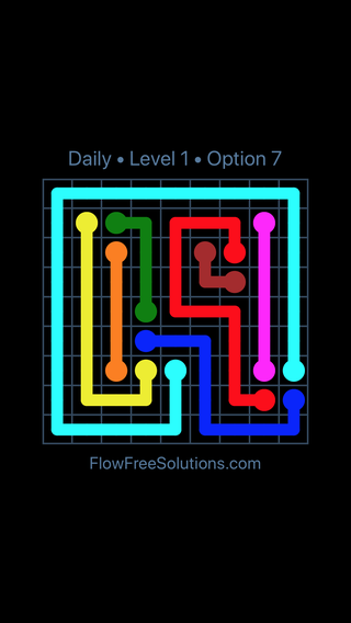 Solution and Answer to the Puzzle for Flow Date Thursday, April 18, 2019 Level 1