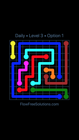 Solution and Answer to the Puzzle for Flow Date Thursday, May 17, 2018 Level 3
