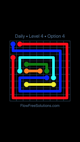 Solution and Answer to the Puzzle for Flow Date Thursday, August 9, 2018 Level 4