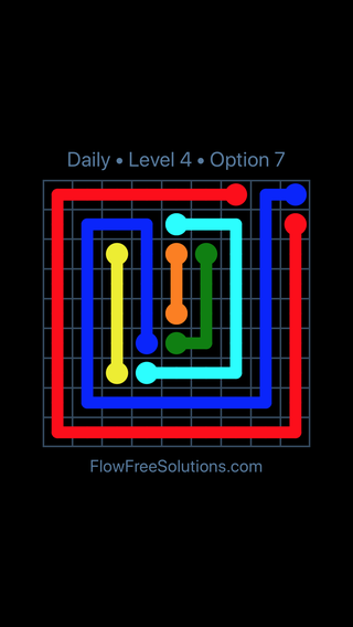 Solution and Answer to the Puzzle for Flow Date Thursday, May 17, 2018 Level 4