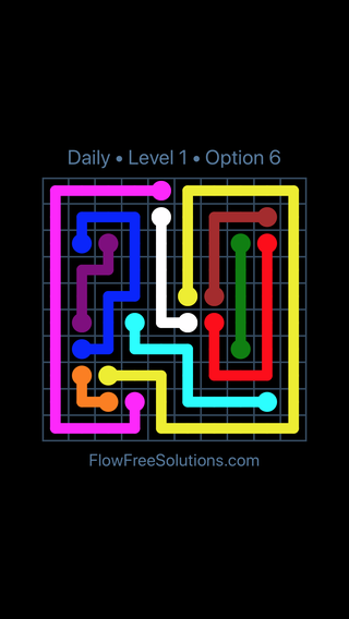 Solution and Answer to the Puzzle for Flow Date Friday, August 10, 2018 Level 1