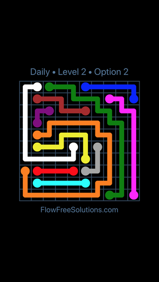 Solution and Answer to the Puzzle for Flow Date Friday, August 10, 2018 Level 2