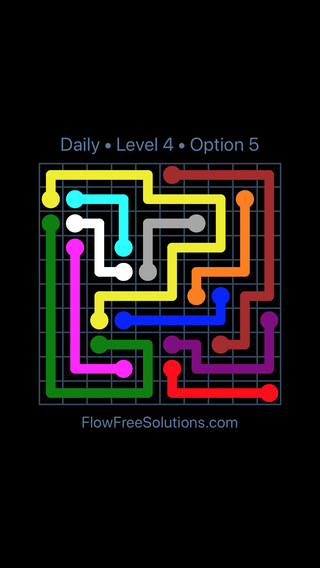 Solution and Answer to the Puzzle for Flow Date Friday, August 10, 2018 Level 4
