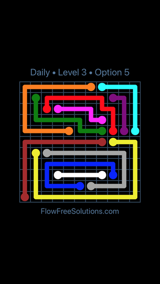 Solution and Answer to the Puzzle for Flow Date Saturday, August 11, 2018 Level 3