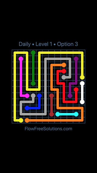 Solution and Answer to the Puzzle for Flow Date Sunday, December 3, 2017 Level 1