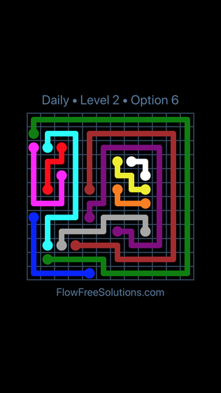 Solution and Answer to the Puzzle for Flow Date Sunday, September 10, 2017 Level 2