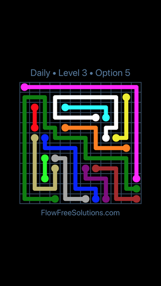 Solution and Answer to the Puzzle for Flow Date Sunday, December 3, 2017 Level 3