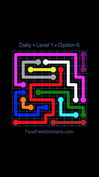 Solution and Answer to the Puzzle for Flow Date Friday, January 12, 2018 Level 1