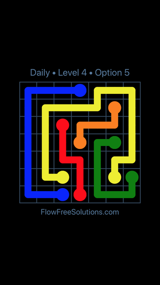 Solution and Answer to the Puzzle for Flow Date Monday, September 11, 2017 Level 4