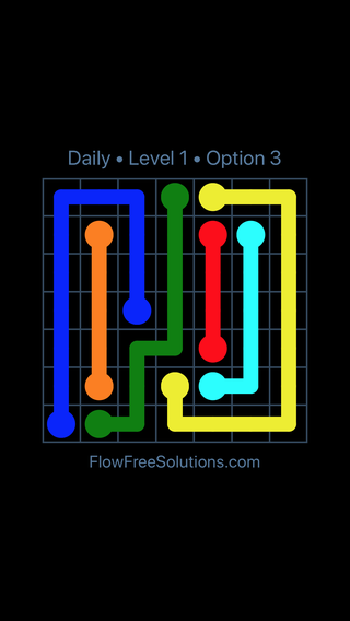 Solution and Answer to the Puzzle for Flow Date Tuesday, September 12, 2017 Level 1