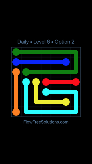 Solution and Answer to the Puzzle for Flow Date Tuesday, December 5, 2017 Level 6