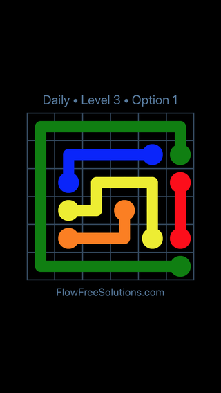 Solution and Answer to the Puzzle for Flow Date Wednesday, November 7, 2018 Level 3