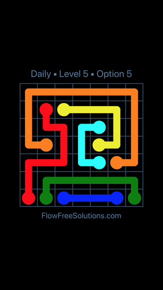 Solution and Answer to the Puzzle for Flow Date Wednesday, December 6, 2017 Level 5