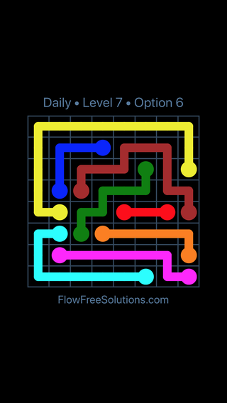 Solution and Answer to the Puzzle for Flow Date Wednesday, September 13, 2017 Level 7