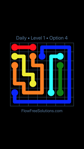 Solution and Answer to the Puzzle for Flow Date Thursday, December 7, 2017 Level 1