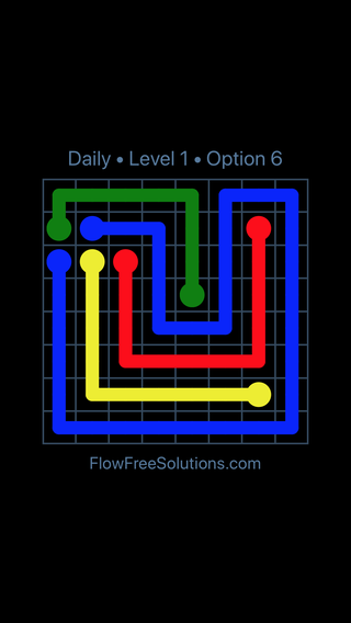 Solution and Answer to the Puzzle for Flow Date Friday, December 8, 2017 Level 1