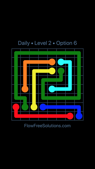 Solution and Answer to the Puzzle for Flow Date Friday, December 8, 2017 Level 2