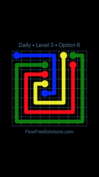 Solution and Answer to the Puzzle for Flow Date Friday, November 9, 2018 Level 3