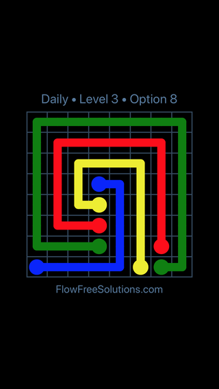 Solution and Answer to the Puzzle for Flow Date Friday, December 8, 2017 Level 3