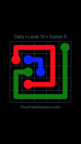 Solution and Answer to the Puzzle for Flow Date Thursday, February 7, 2019 Level 10