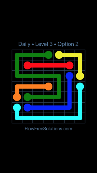 Solution and Answer to the Puzzle for Flow Date Thursday, February 7, 2019 Level 3