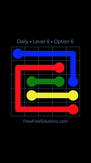 Solution and Answer to the Puzzle for Flow Date Thursday, February 7, 2019 Level 4