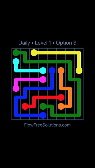 Solution and Answer to the Puzzle for Flow Date Friday, February 8, 2019 Level 1