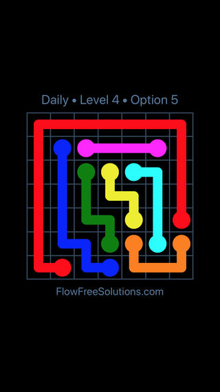 Solution and Answer to the Puzzle for Flow Date Friday, February 8, 2019 Level 4