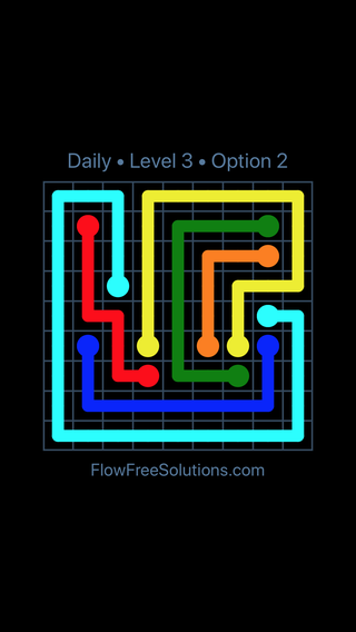 Solution and Answer to the Puzzle for Flow Date Saturday, February 9, 2019 Level 3