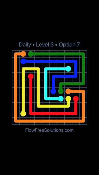 Solution and Answer to the Puzzle for Flow Date Sunday, February 10, 2019 Level 3