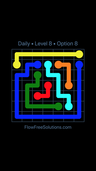 Solution and Answer to the Puzzle for Flow Date Monday, February 11, 2019 Level 8