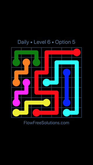 Solution and Answer to the Puzzle for Flow Date Tuesday, February 12, 2019 Level 6