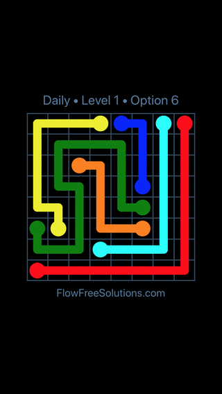 Solution and Answer to the Puzzle for Flow Date Wednesday, February 13, 2019 Level 1